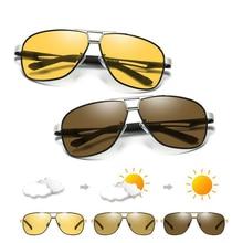 Photochromic Sunglasses Men Pilot Polarized Sun Glasses Retro Aviation