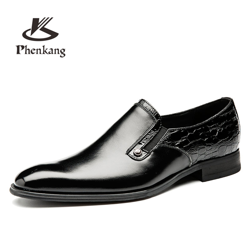 men 's business formal leather shoes men suits black leather breathable gentleman wedding slip on shoes england carved men s business dress shoes leather men s shoes european version breathable black and white fight color shoes
