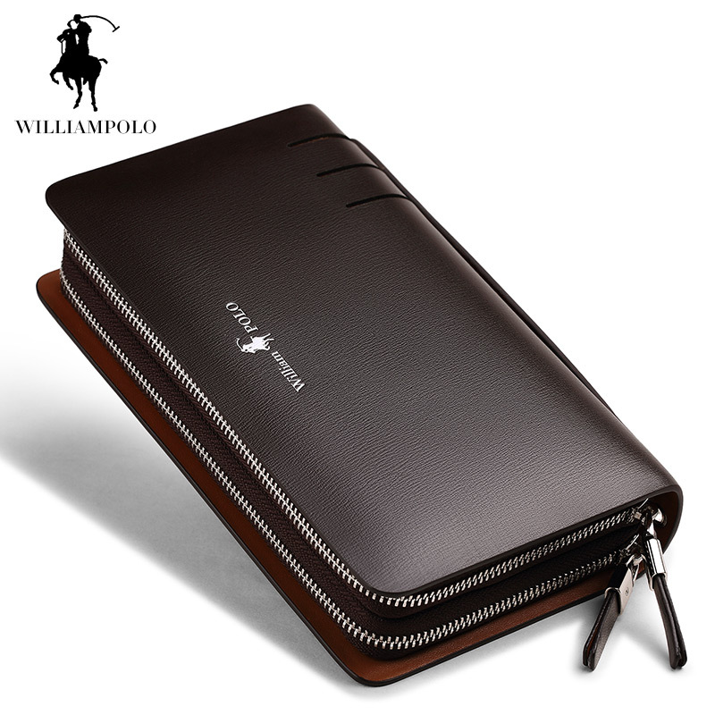 2017 NEW Genuine Leather Wallet Men Fashion Business Design High Capacity Organizer Wallet Brand Men Clutch Coins Purses Wallets 2016 famous brand new men business brown black clutch wallets bags male real leather high capacity long wallet purses handy bags