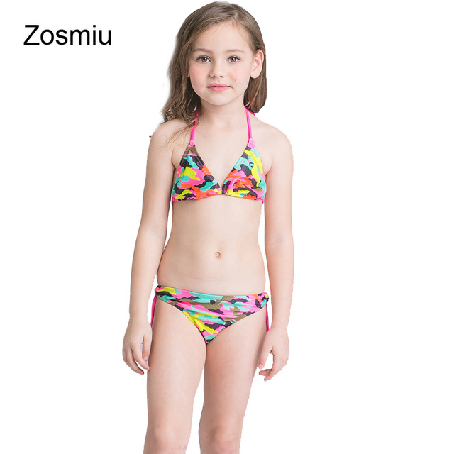 393408f5f19b Zosmiu Kids Camouflage Bathing Suits Split Swimsuit Biquini for Baby ...