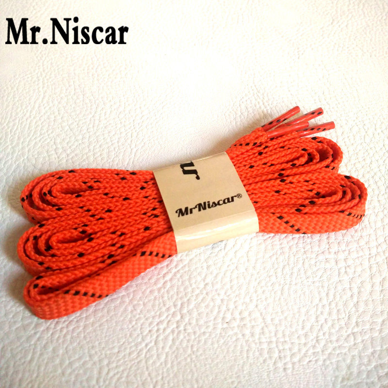 Mr.Niscar 10 Pair Polyester Brand Flat Shoelaces Oblique Point Striped Shoelace Thickening Sport Red Shoe Laces Colored vsen 2x 47 glitter flat coloured shoelaces boot laces sport dance red