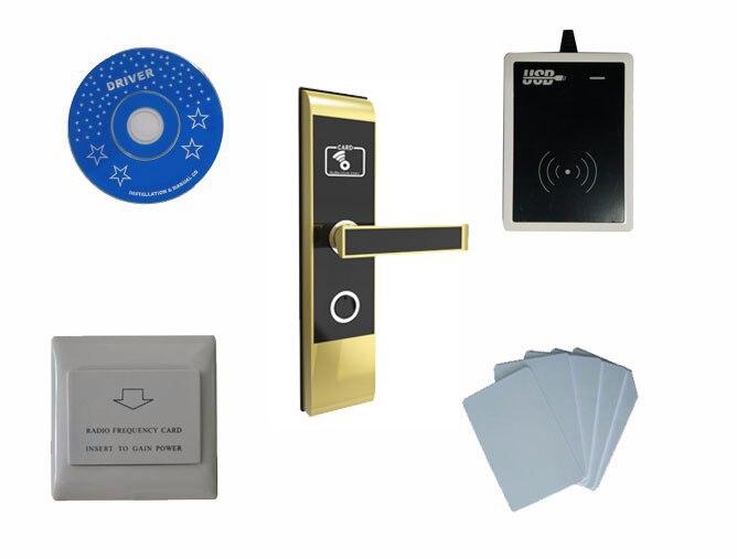 T57 система устройств блокировки в гостиницах, включают T57 замок гостиницы, кодовый замок usb, энергосберегающий коммутатор, T57 карты, sn: CA 2019 kit