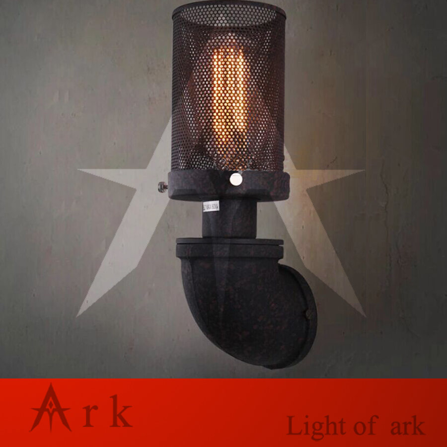 ark light FREE SHIPPING Vintage iron European style water pipe LED wall lamp american wrought iron lamps coffee house bar