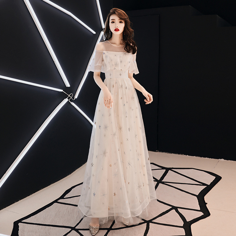 Sexy Lace perspective Cheongsam Noble Women Evening Party Qipao Exquisite Embroidery Long Dresses Banquet Dress Gown