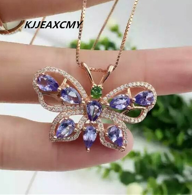 KJJEAXCMY boutique jewelry,Natural stone pendant pendants, inlaid women's jewelry wholesale, S925 sterling silver wholesale s925 sterling silver inlaid natural stone thai silver beautiful burning blue brooch female pendant new products