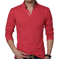 HOT SELL 2016 New Brand Men's T-Shirt Fashion Casual Solid Long-Sleeve Slim Fit T Shirt Men Cotton Tee Shirts Male Clothes 5XL