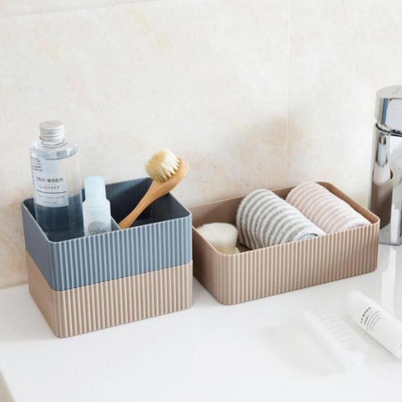 Plastic Storage Box Desktop Cosmetic Sundries Organizer Kitchen Bathroom Food Snack Clothes Towel Sorting Box Holder Container