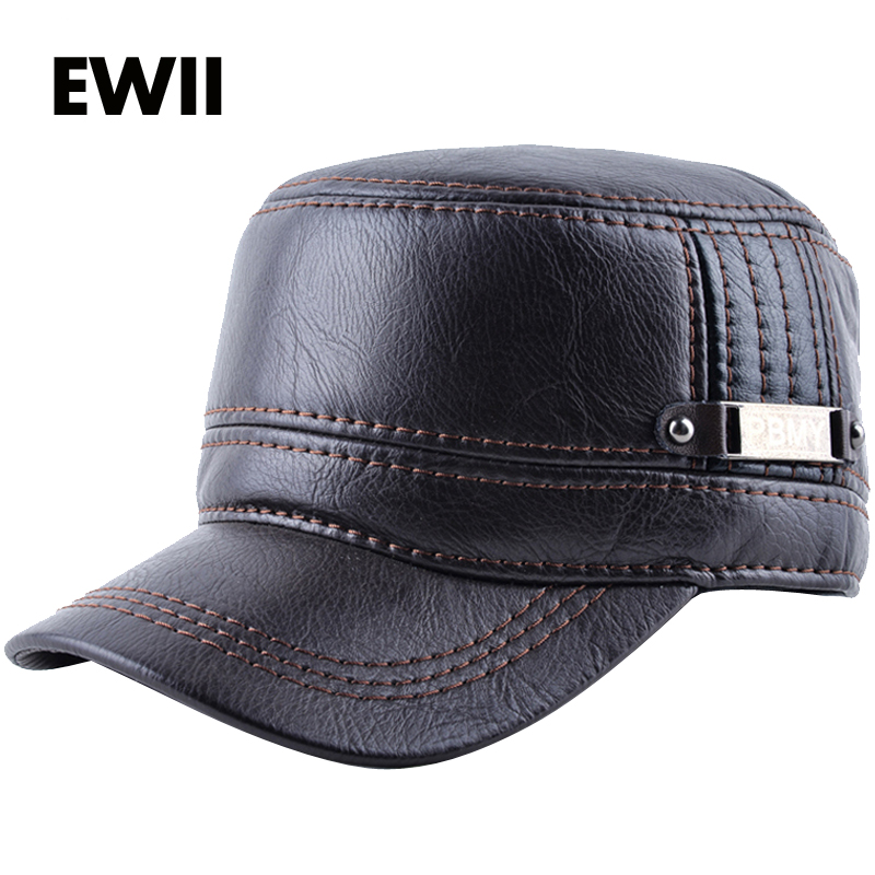 2017 Winter baseball hats for men snapback caps bone masculino men winter leather warm flat cap casquette dad hat gorras fetsbuy wholesale warm winter fedora baseball cap men brand snapback black solid bone casquette baseball mens winter hats gorras