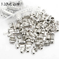 Wholesale Price Mix Colors Tibetan Silver flower  Spacer Beads charm For DIY Jewelry Bracelet(90-100 pcs)