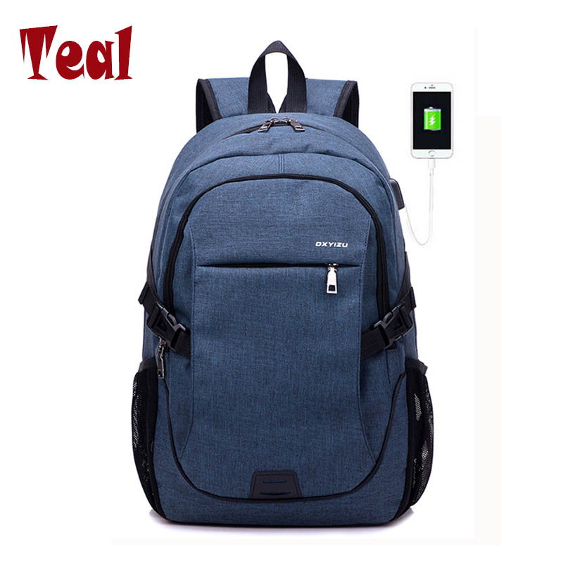 2017 Fashion Men Backpacks canvas Bags For Teenagers girls 15.6 Inch Laptop Bag Backpack USB Large Capacity casual Backapck