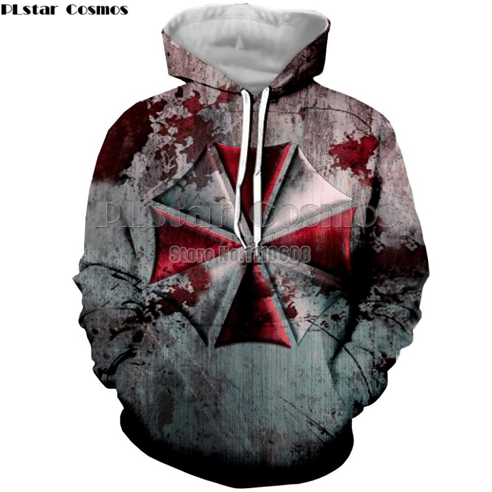 PLstar Cosmos Resident Evil Felpe Uomini donne Hoodies Sewatshirts Giacca Con Cappuccio Manica Lunga Pullover pullover Tute Crossfit