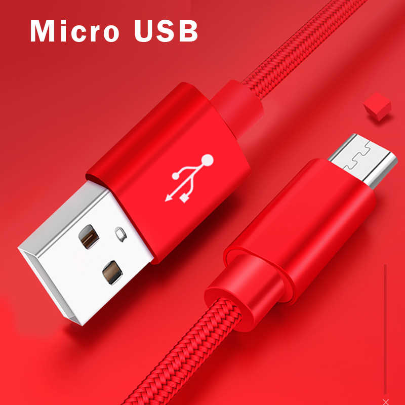 Micro USB Cable 2A Fast Charging Mobile Phone Charger Cable 0.25m 1m 1.5m 3m Date Cable for Sumsung Xiaomi Huawei Android Tablet