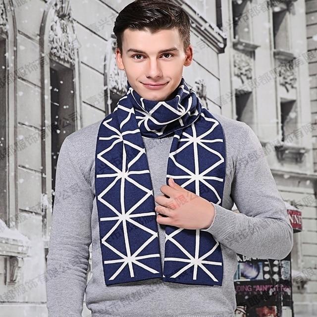 30*180 de lujo de Moda marca bufanda de la Cachemira hombres de lana Caliente de alta calidad bufandas cachecol bufanda larga para hombre de san valentín regalo del día