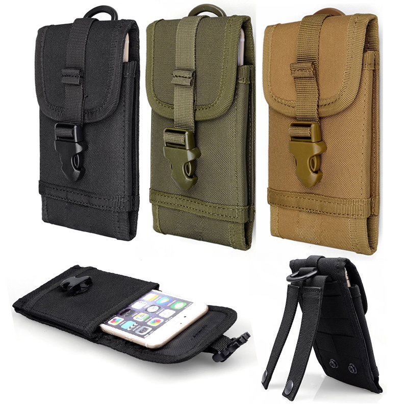 Useful Multifunction Outdoor Camping Hiking Tactical Phone Bag Men Camouflage Waist Bag Hook Loop Belt Pouch Oxford Cloth Mobile Case Low Price Sports & Entertainment