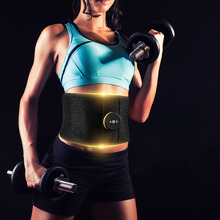 Vibration Abdominal Muscle Trainer Fitness Massager Waist Support EMS Stimulator Fat Burning Slimming Body Belt Gym Weight Loss недорого