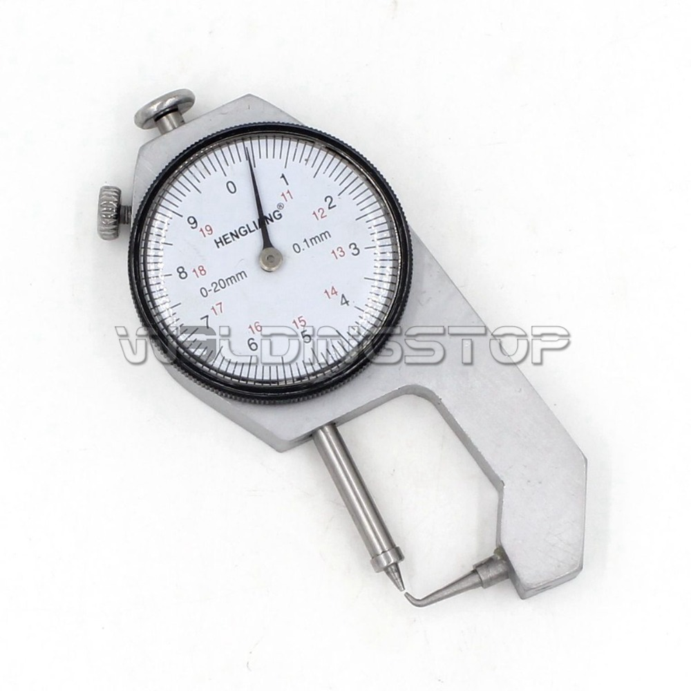 INSPECTION DIAL THICKNESS GAUGE GAGES 0.1mm X 10mm round measure head
