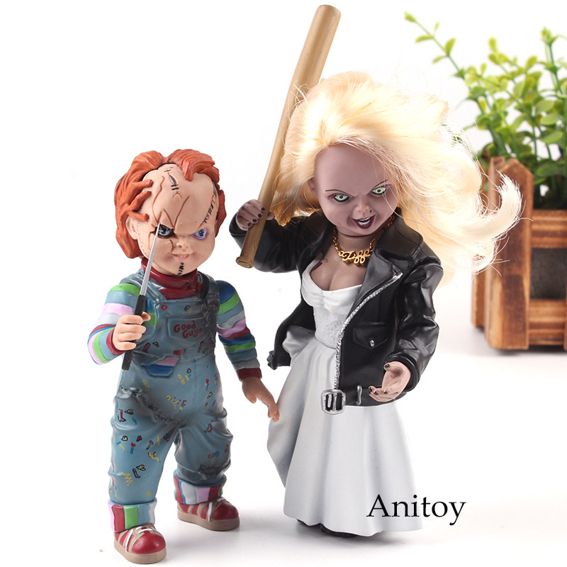 Bride of Chucky Tiffany & Chucky Doll Figure Action PVC Horror Movie Figures Collection Model Toys