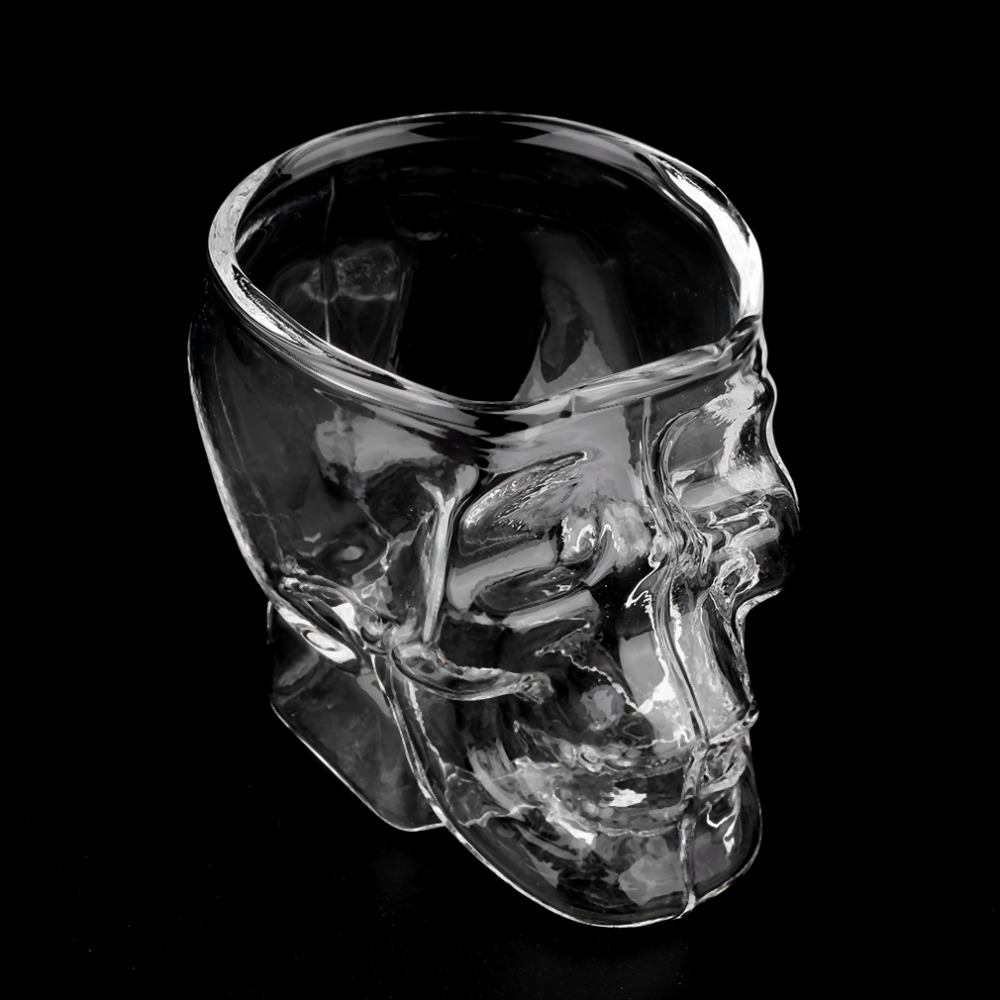 2017 Popular Mini Skull Head Shaped Shot Glass Cup Whisky Wine Bar & Party Glass Cup