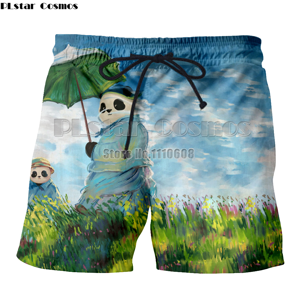 Men's Clothing Yx Girl Plstar Cosmos Quick Drying 3d Animal Panda Printed Beach Board Shorts Men Women Summer Boardshorts Boys Beachwear Short