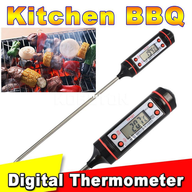 Portable Safe Digital LCD Display Meat Thermometer Probe Kit Kitchen Probe Temperature Testing for BBQ Cooking Food Meat