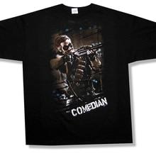 2fea452d184d Watchmen Comedian z Rifle obrazu czarny T Shirt nowa oficjalna film  komiks(China)