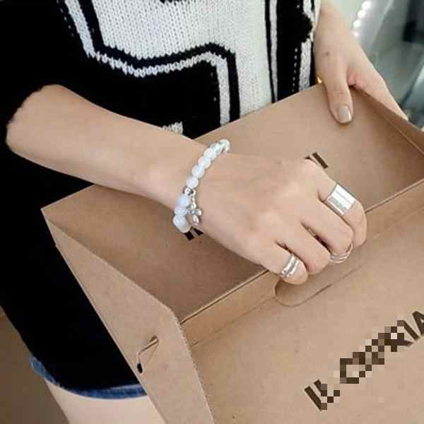 Korean Fashion Three-piece Metal Smooth Opening Adjustable Ring Hollow Wide Punk Style Personality Wild Trend Neutral Ring