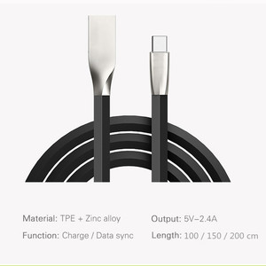 Image 5 - USB Type C Cable Zinc Alloy USB C Cable Fast Charging Data Cable Type C USB Charger Cables for Samsung S10 S9 S8 Xiaomi Huawei