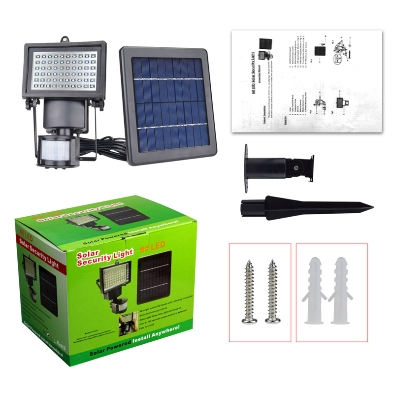 New Garden Solar Light with Motion Sensor Lamp 60Leds Solar Panel Led Lamp Waterproof Outdoor Solar Floodlights Spotlights Luces (18)