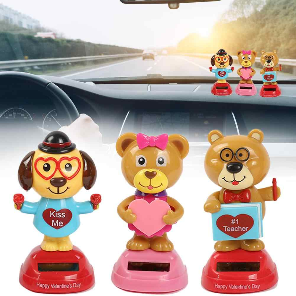 Solar Powered Dancing Animal Swinging Animated Bobble Dancer Toy Car Decor Kids Toys Gift