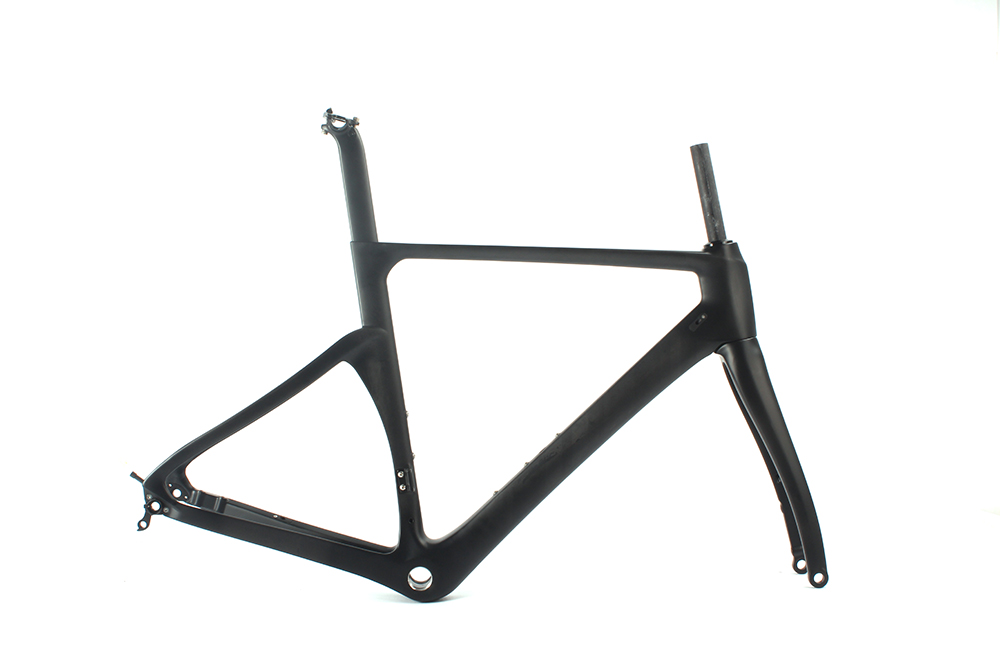 Full Carbon Road Frame Disc Brake 700C Frame Fork Custom Design Beautiful UD Matte Finish Factory