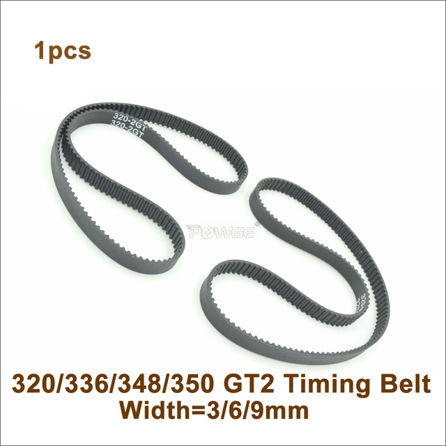 POWGE 320/336/340/348/350 2GT Timing Belt W=3/6/9mm Teeth 160/168/170/174/175 GT2 Closed-Loop Synchronous Belt 320-2GT 350-GT