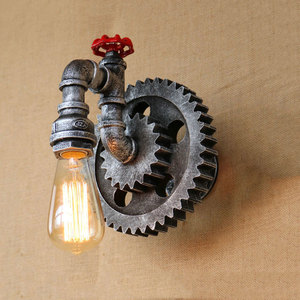 Vintage Iron pipe wall lamps retro loft living room bedroom bar club pub hotel restaurant cafe lights creative wall sconce bra