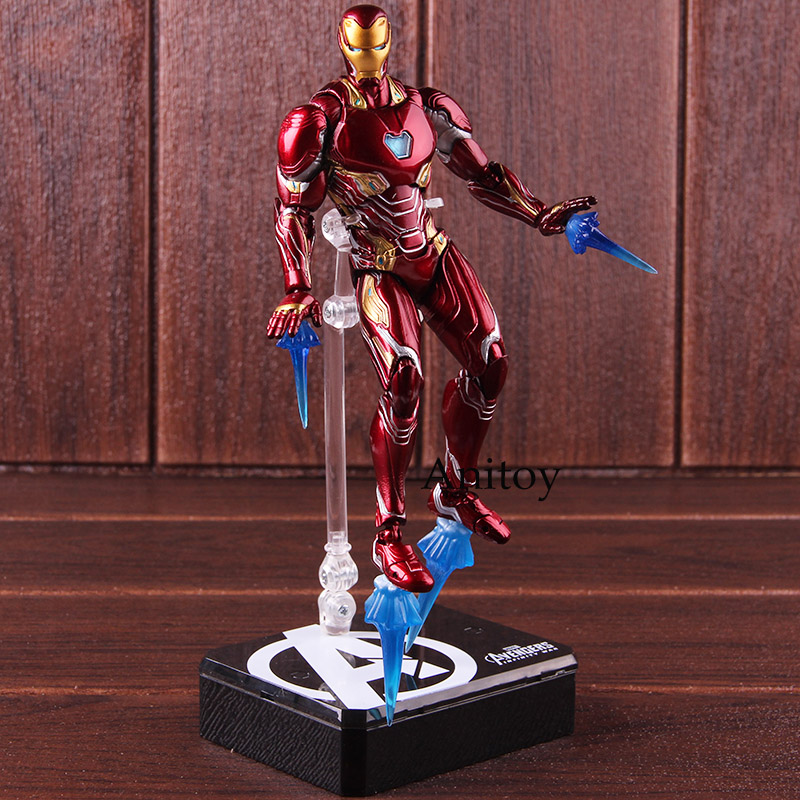 SHF Figure Iron Man MK50 & Tamashi Stage PVC Marvel Avengers Infinity War Action Figure Iron Man Mark 50 Collectible Model Toy