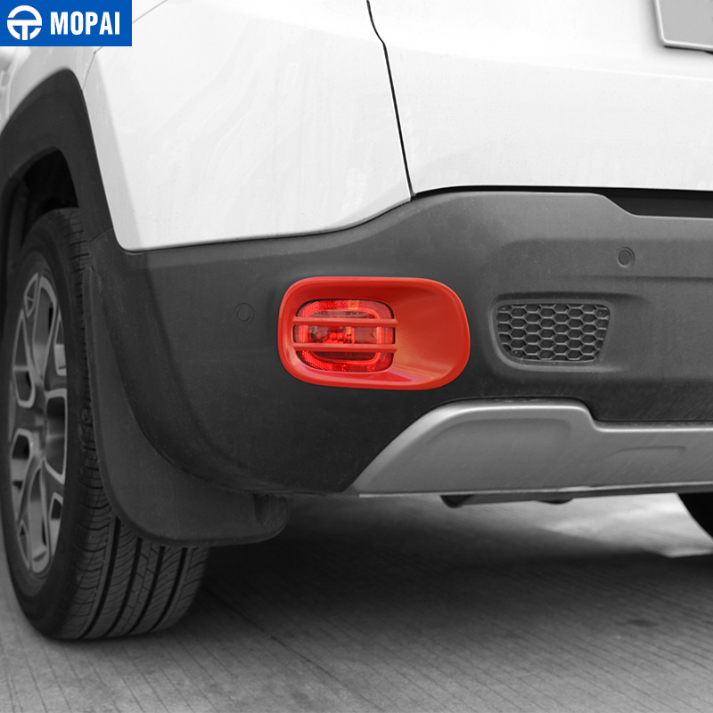 Image 2 - MOPAI Metal Car Rear Tail Fog Light Lamp Cover Decoration Trim for Jeep Renegade 2015 Up Exterior Accessories Car Styling-in Lamp Hoods from Automobiles & Motorcycles