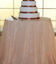 Merveilleux ShinyBeauty 8ft 96 Inch 240cm Peach Sequin Tablecloth,Round Tablecloth For  Wedding