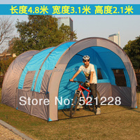 2017 new hot sale outdoor camping tunnel 10+ persons big family oversized beach fishing tent on sale 1 bedroom 2 living rooms