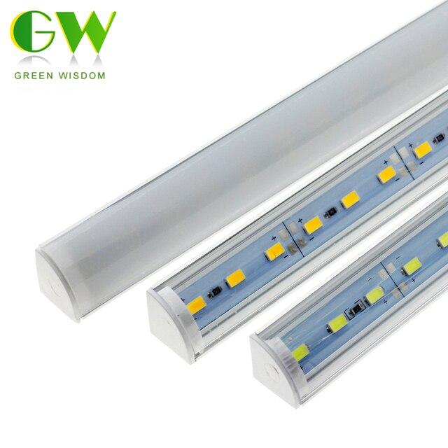 LED Tube Lamp for Wall Corner LED Bar Light DC 12V 50cm SMD 5730 Rigid LED Strip Light Under Cabinet Light Kitchen Home Decor