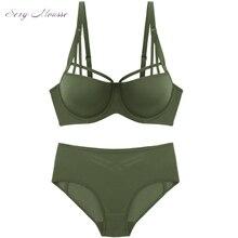 dbee1ee6d Mousse de sexy empurrar para cima as mulheres sutiã e cuecas conjuntos de  lingerie verde vermelho