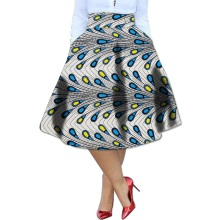 Dance.H.S Elegant brightly wax africa print element ladies dashiki skirts custom