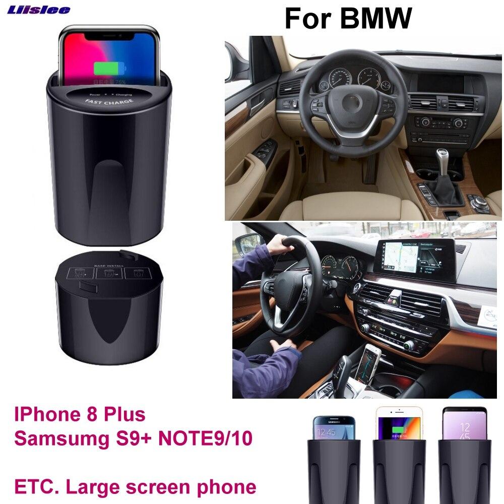 Voiture Qi Rapide Sans Fil De Charge Rapide chargeur USB 10 w 7.5 w Pour BMW 1 2 3 4 5 6 7 8 9 série X1 X2 X3 X4 X5 X6 X7 X8