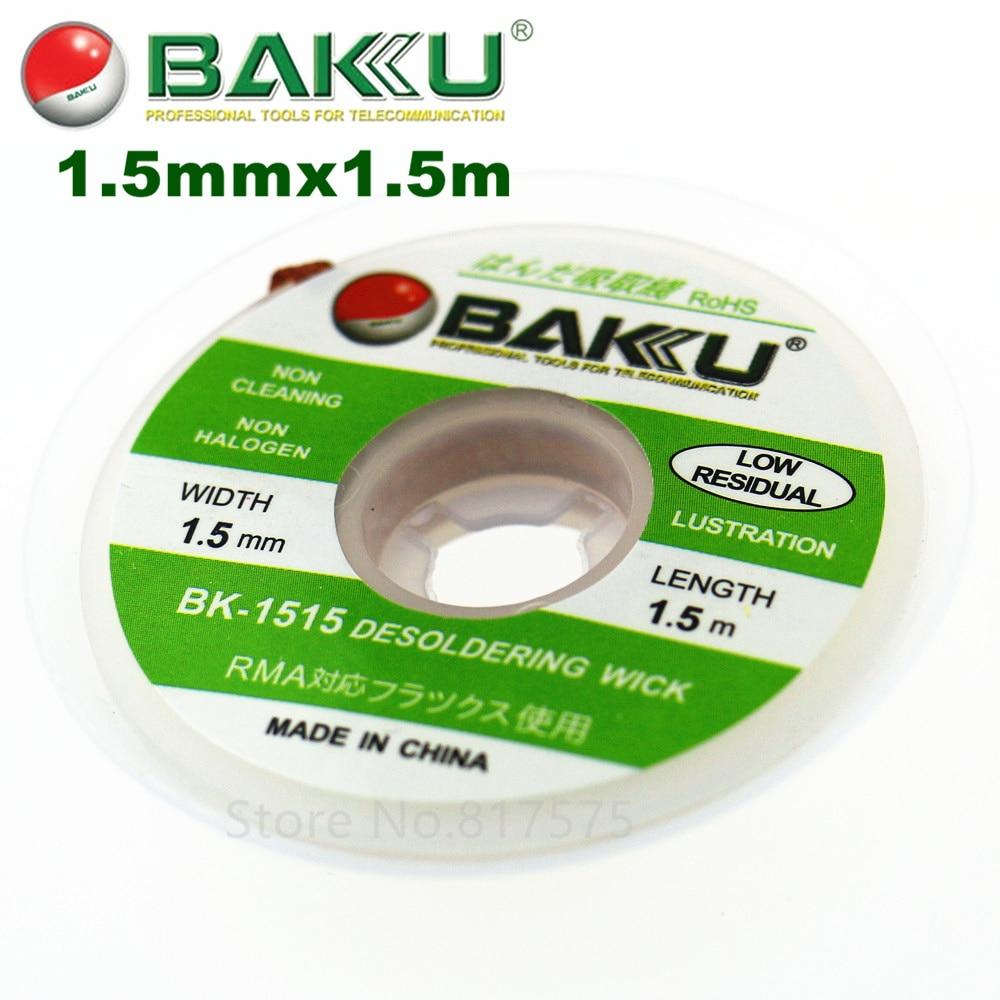 1.5/2.0/3.0mmx1500mm Desoldering Wick. BAKU BK-1515/BK-2015/BK-3015