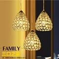 Светодиодная лампа для столовой  три Современные Простые хрустальные люстры для столовой  одиночная индивидуальная барная настольная ламп...