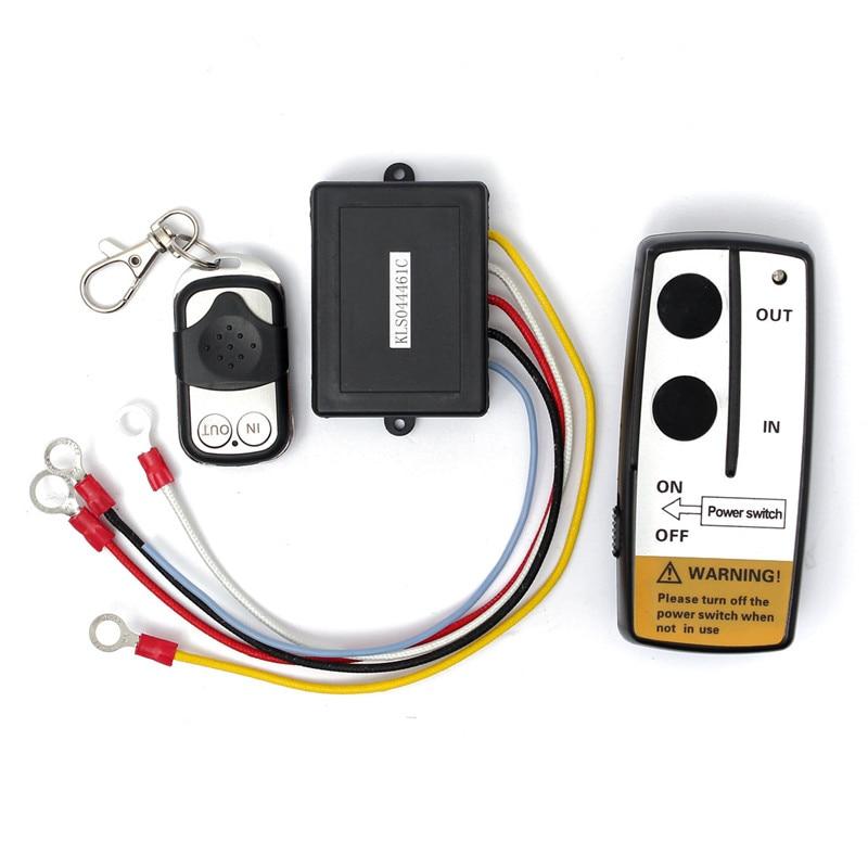 12V//24V Universal Electric Wireless Winch 2 Remote Control Switch For ATV