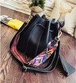 2017 Top Real Bucket Pu Shoulder Bags Single Women Solid Soft Versatile Messenger Bag famous designer purses and handbags