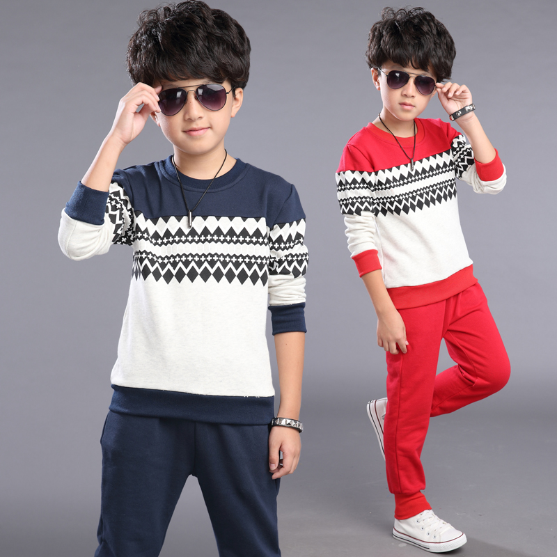Free shipping new arrival spring/autumn boy leisure clothing set boy sports suit two pieces sweater+pants цены онлайн