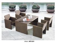 Small Garden Table Chair Set 130CM Table 4 Chairs Rattan Balcony Patio Garden Chair Set Holiday