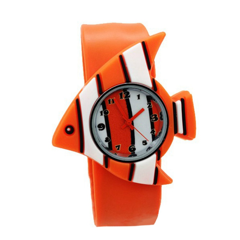 Children's Watches Cartoon Kids Wrist Baby Watch Clock Quartz Watches for Gifts Relogio Montre fish