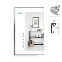 Classic Super Narrow Aluminum 16x24 Poster Frames 2pcs In 1 Or 3pcs In 1 For Wall