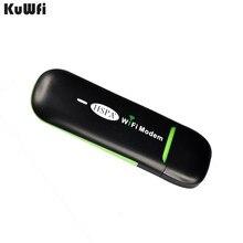 KuWFi enrutador de WIFI USB 3G inalámbrico de 7,2 Mbps, punto de acceso Wifi móvil con USB, módem WiFi más pequeño, enrutador con tarjeta SIM para autobús o coche