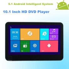 Android 5.1 Reposacabezas 10.1 Pulgadas Monitor HD Coche Reproductor de DVD HDMI WIFI Pantalla Táctil Capacitiva de Cuatro Núcleos (4 Núcleos)-1 UNIDS (negro)